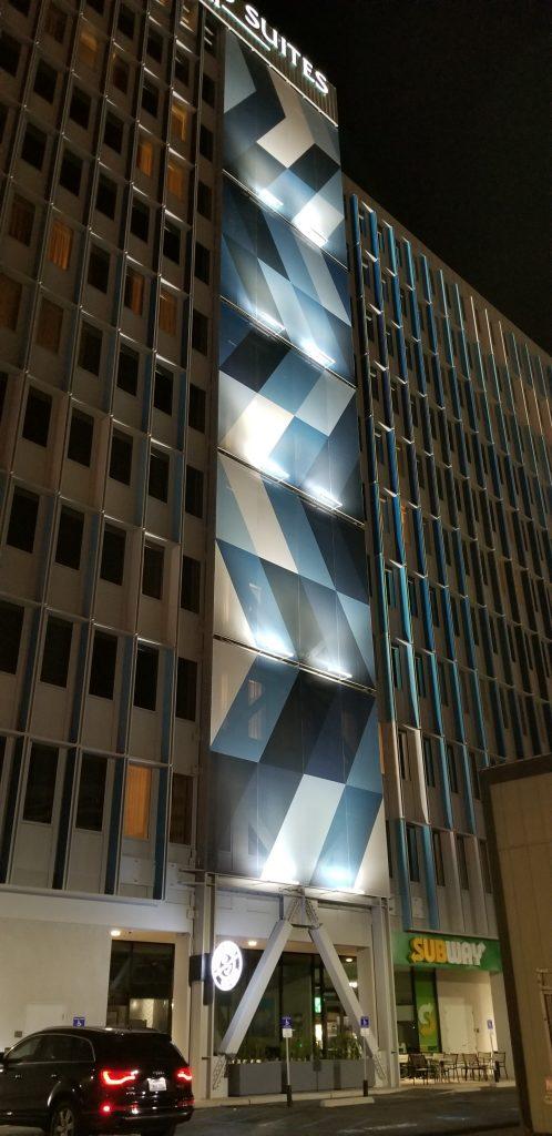 Tensile Membrane Facade Night Identity