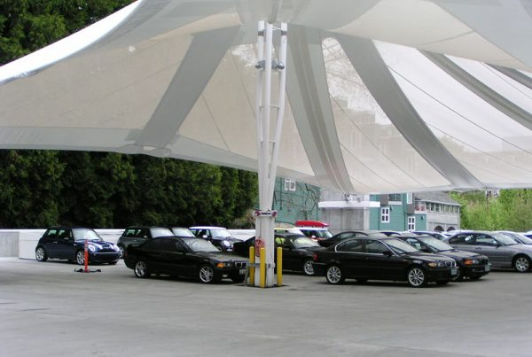 Protect Your Customers' Vehicles with Parking Garage Tensile Facades