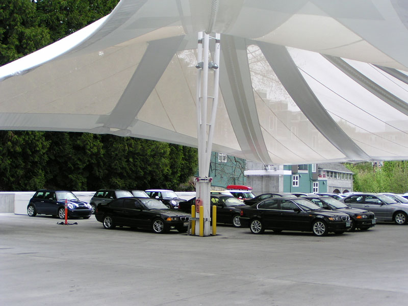 Protect Your Customers' Vehicles with Parking Garage Tensile Facades & Tension Structures