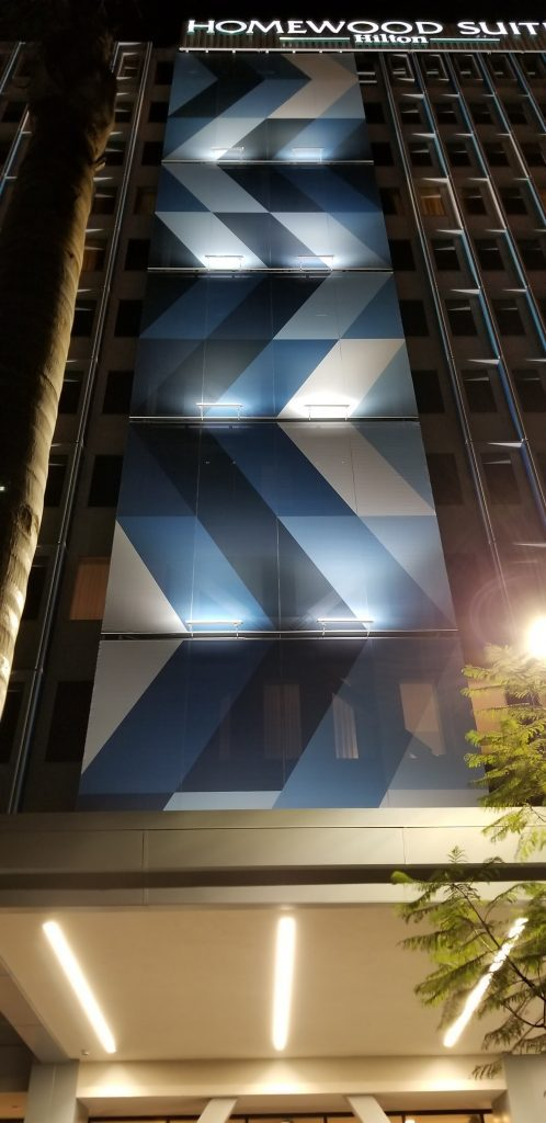 Tensile Fabric Facades for Hotels - Hilton Hotels